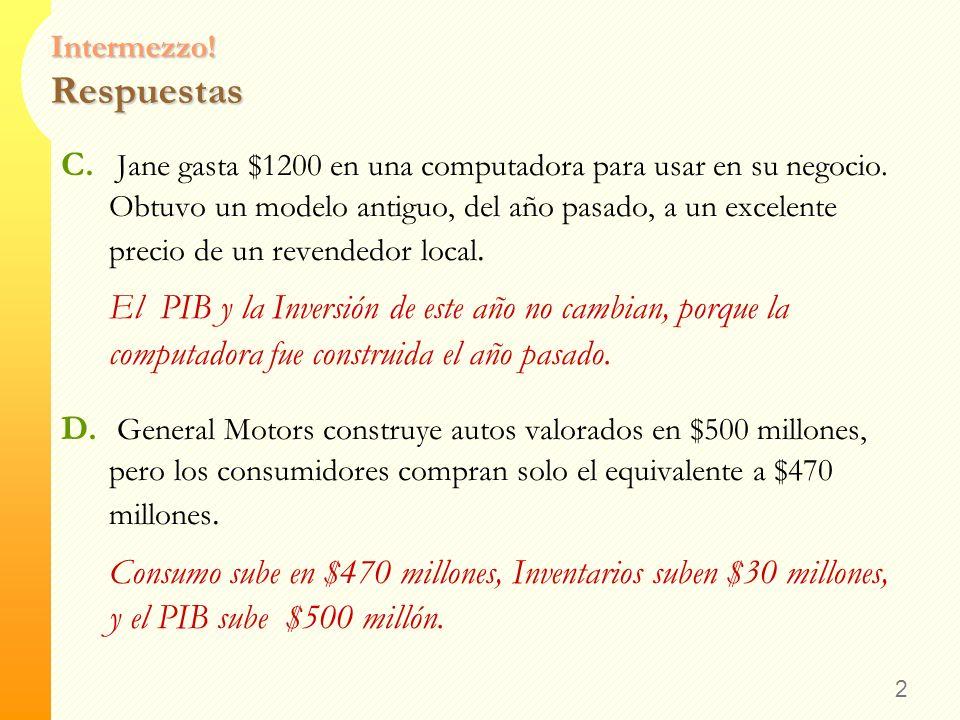 12 RESUMEN DEL CAPÍTULO El Producto Interno Bruto (PIB) mide el ingreso y gasto total de un país.