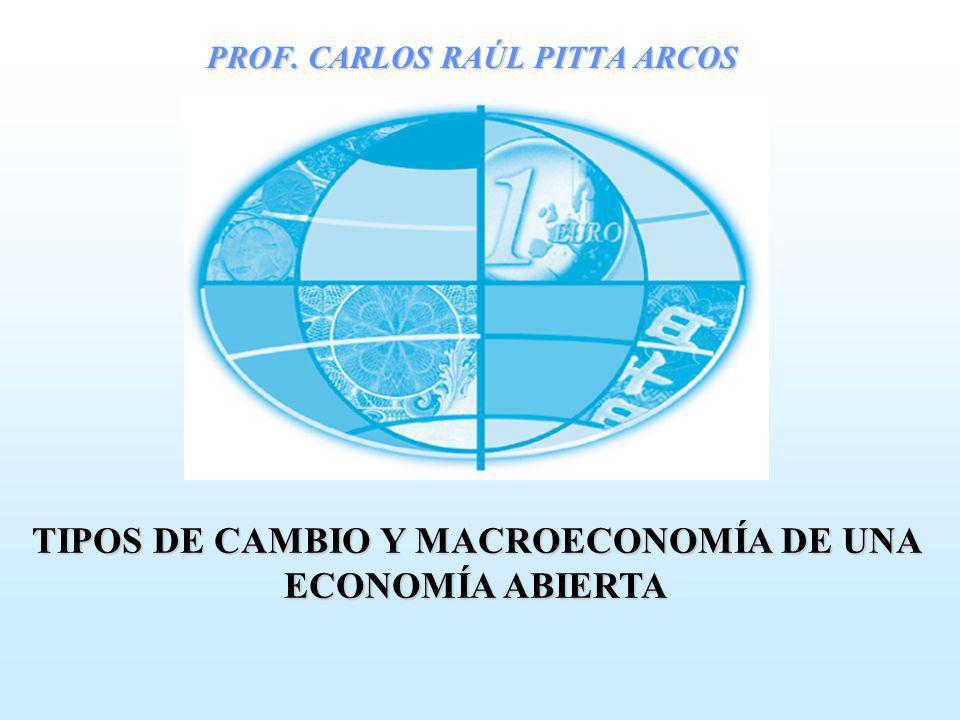PROF. CARLOS RAÚL PITTA ARCOS TIPOS DE CAMBIO Y MACROECONOMÍA DE UNA ECONOMÍA ABIERTA