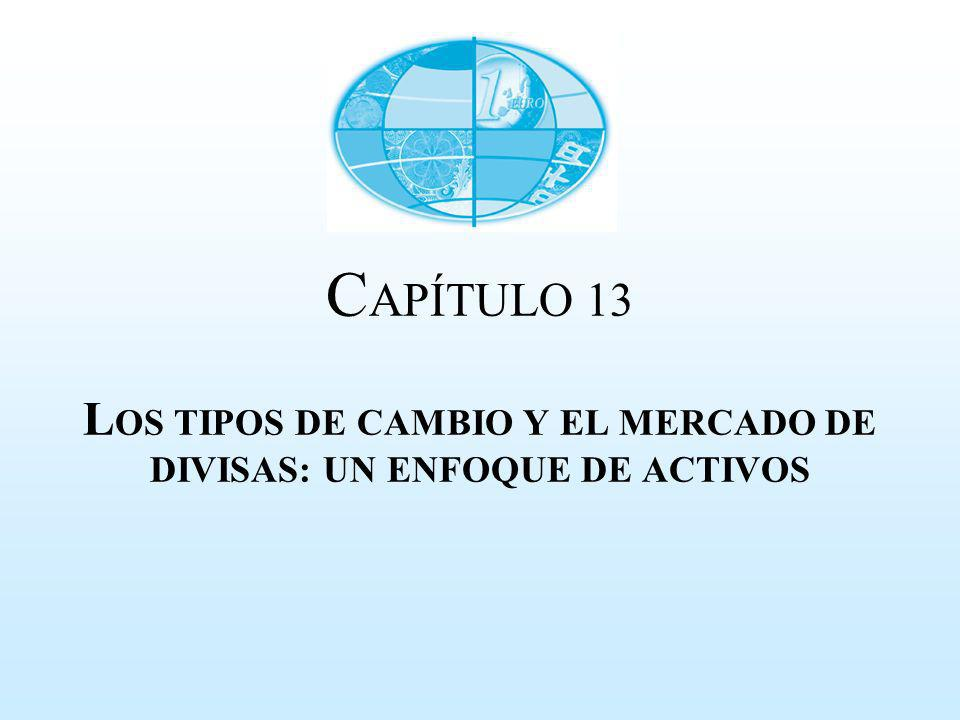 C APÍTULO 13 L OS TIPOS DE CAMBIO Y EL MERCADO DE DIVISAS: UN ENFOQUE DE ACTIVOS