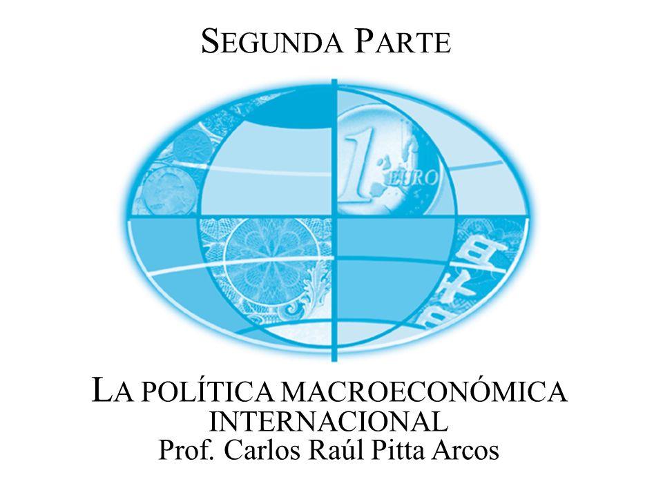 S EGUNDA P ARTE L A POLÍTICA MACROECONÓMICA INTERNACIONAL Prof. Carlos Raúl Pitta Arcos
