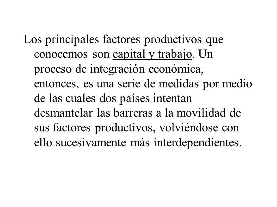 Los principales factores productivos que conocemos son capital y trabajo.