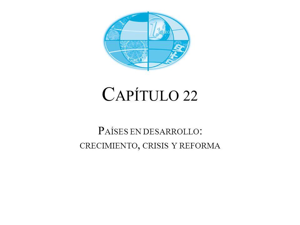 C APÍTULO 22 P AÍSES EN DESARROLLO : CRECIMIENTO, CRISIS Y REFORMA