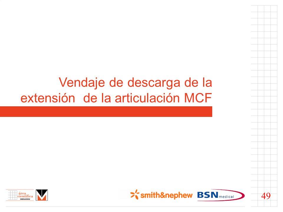 Vendaje de descarga de la extensión de la articulación MCF 49