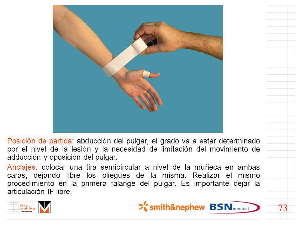 Estribos: traccionar varias tiras, tanto en sentido longitudinal como cruzadas, desde el dedo hasta el anclaje proximal.
