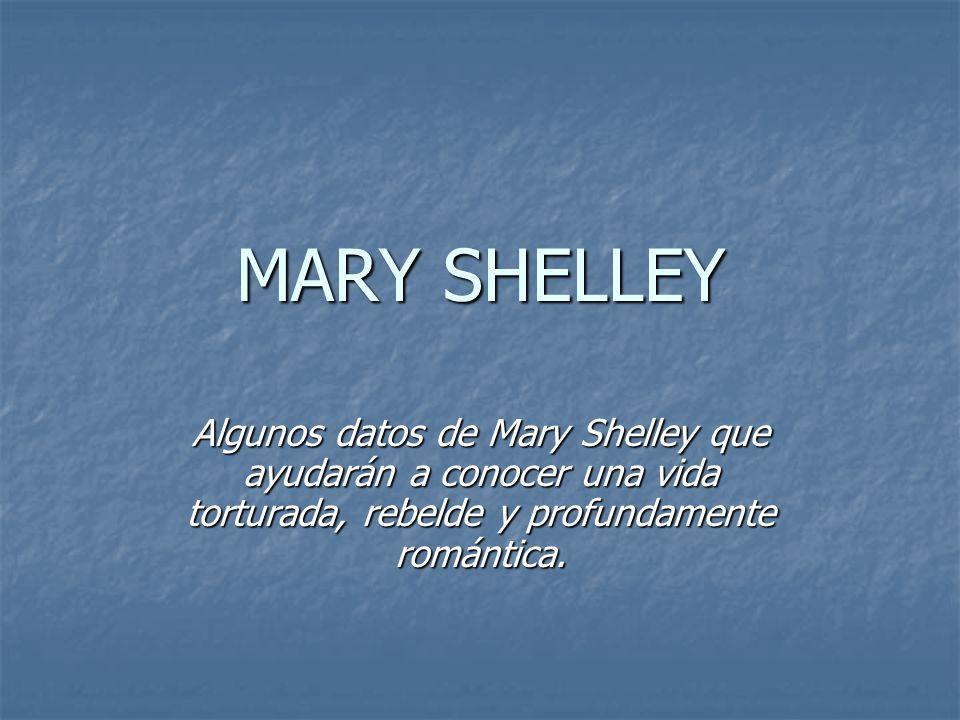 Mary Shelley (Mary Godwin de soltera) nació en Londres en 1797.