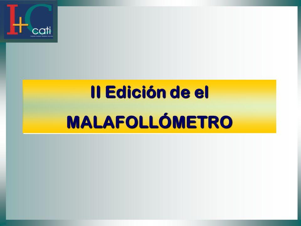 II Edición de el MALAFOLLÓMETRO MALAFOLLÓMETRO