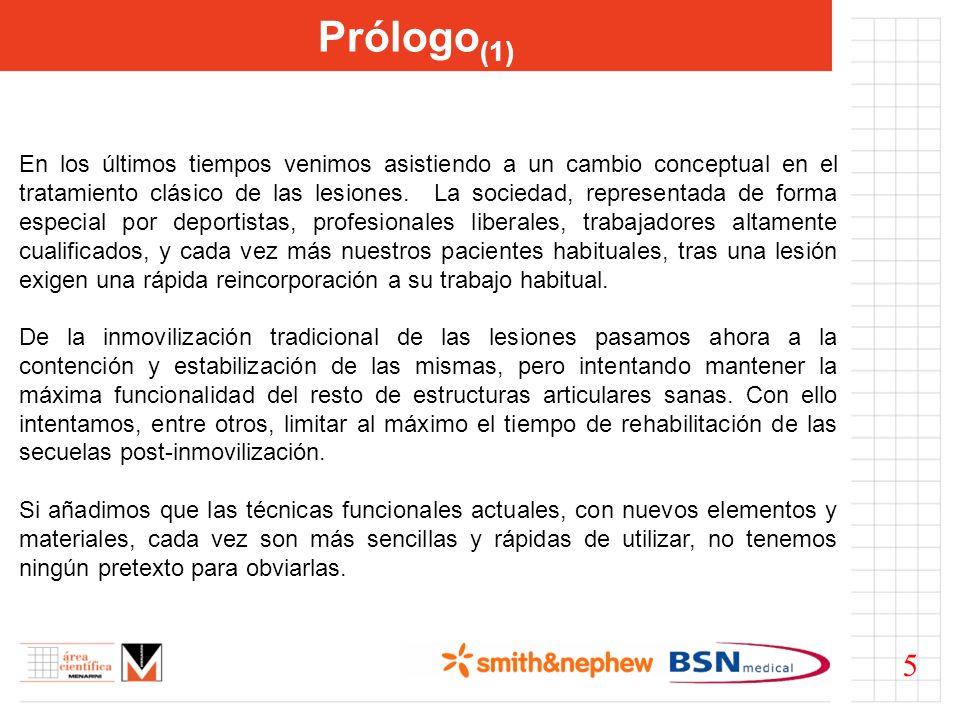 Prólogo (1) En los últimos tiempos venimos asistiendo a un cambio conceptual en el tratamiento clásico de las lesiones. La sociedad, representada de f