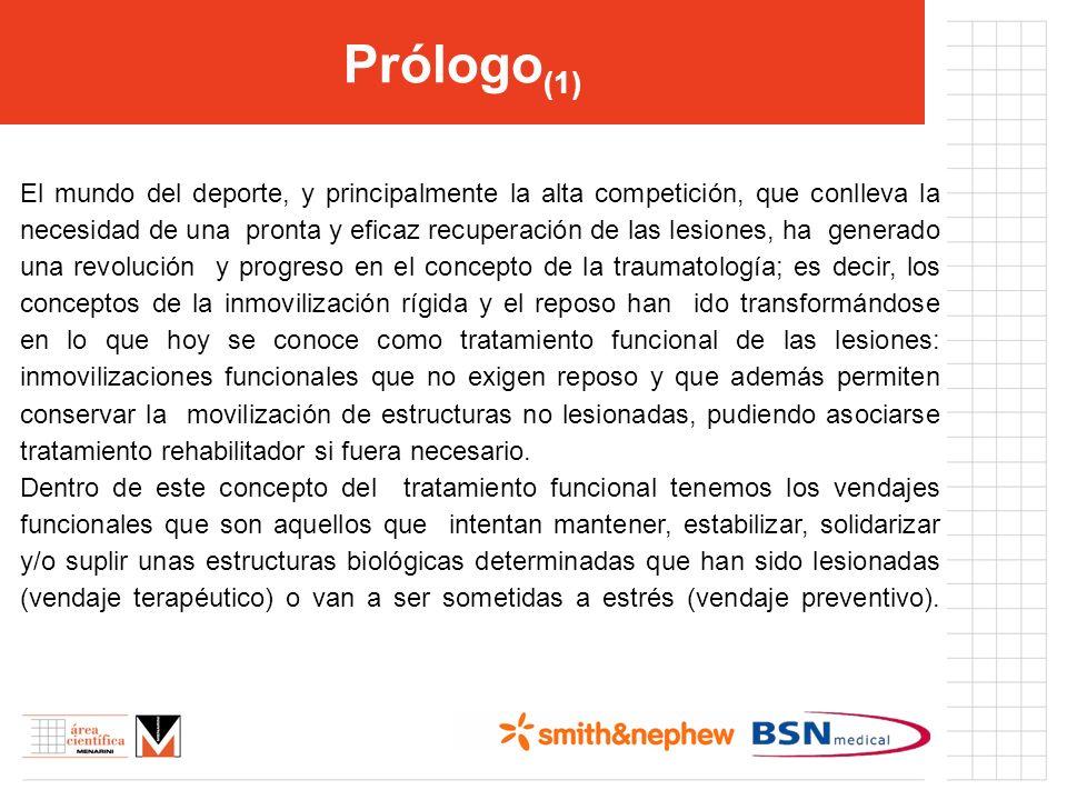 Prólogo (1) El mundo del deporte, y principalmente la alta competición, que conlleva la necesidad de una pronta y eficaz recuperación de las lesiones,