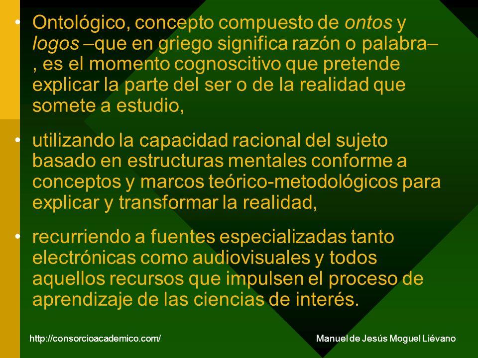 Epistémico, es el momento cognitivo que tiene por objeto de reflexión el saber de los conocimientos.