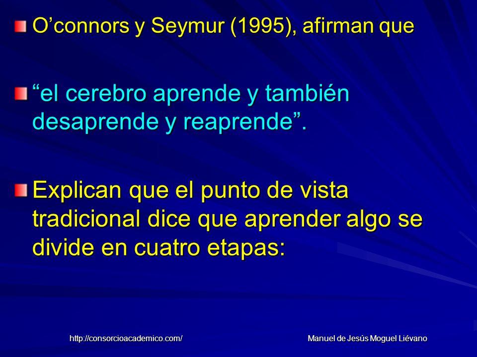 Oconnors y Seymur (1995), afirman que el cerebro aprende y también desaprende y reaprende. Explican que el punto de vista tradicional dice que aprende