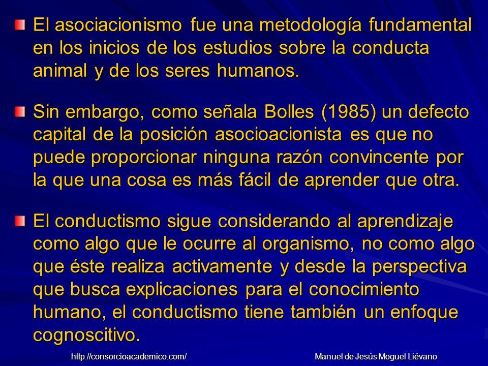 El asociacionismo fue una metodología fundamental en los inicios de los estudios sobre la conducta animal y de los seres humanos. Sin embargo, como se
