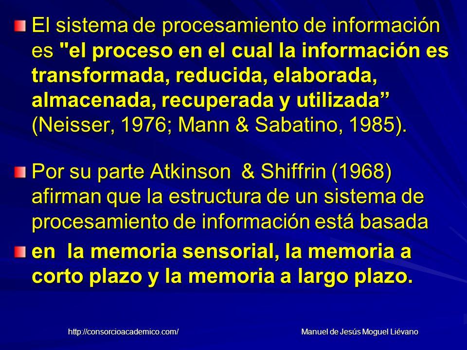 El sistema de procesamiento de información es