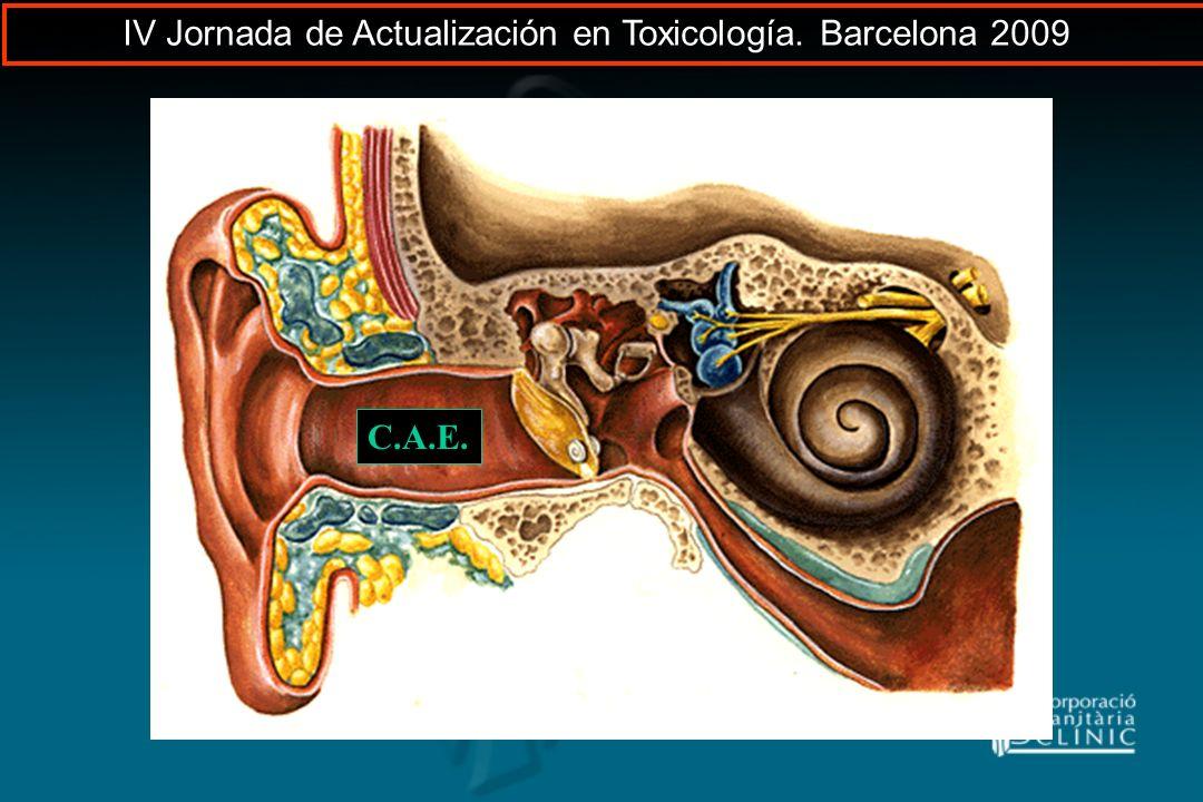 C.A.E. IV Jornada de Actualización en Toxicología. Barcelona 2009