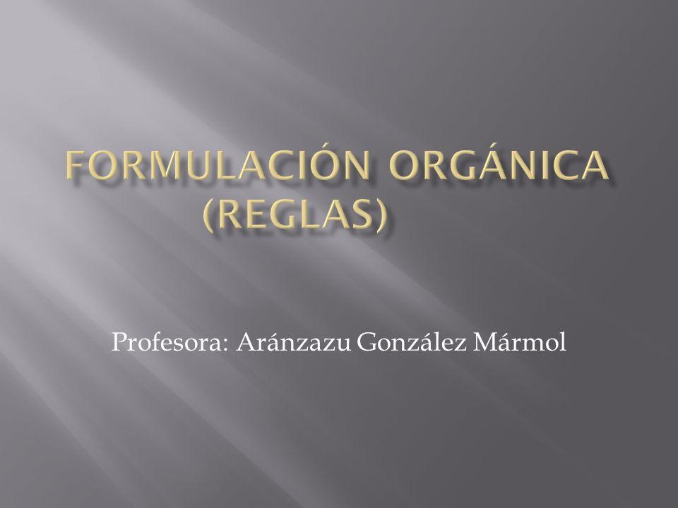 Profesora: Aránzazu González Mármol