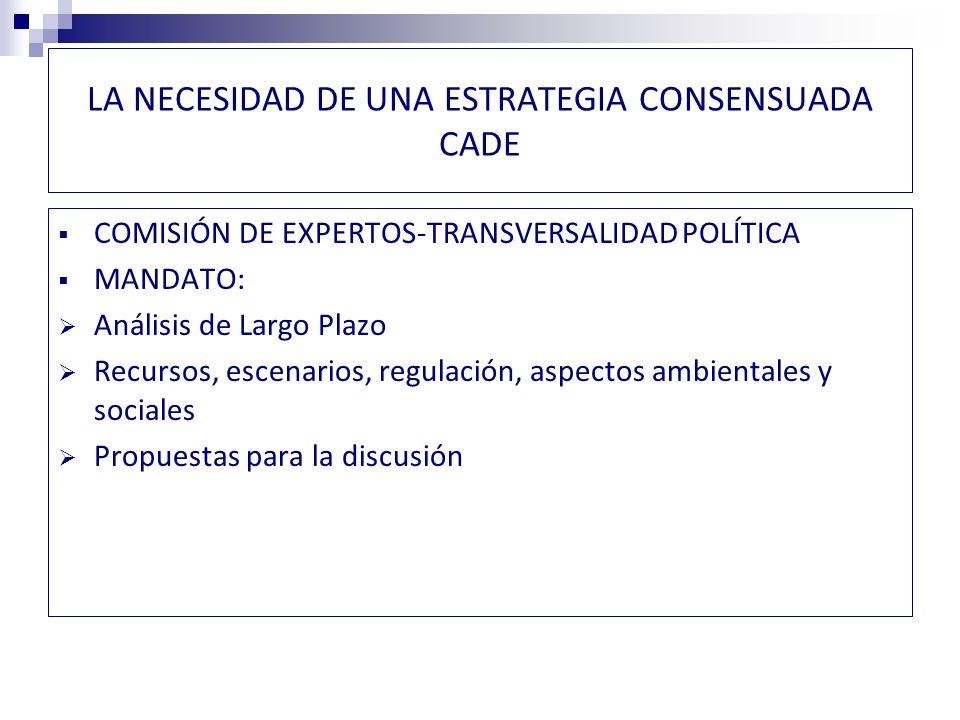 APORTES DE LA CADE: ESTUDIO DE ESCENARIOS 2012- 2030 Trabajo de simulaciones para evaluar efecto de diversas políticas, en base a escenarios posibles y potencial conocido de las fuentes alternativas.