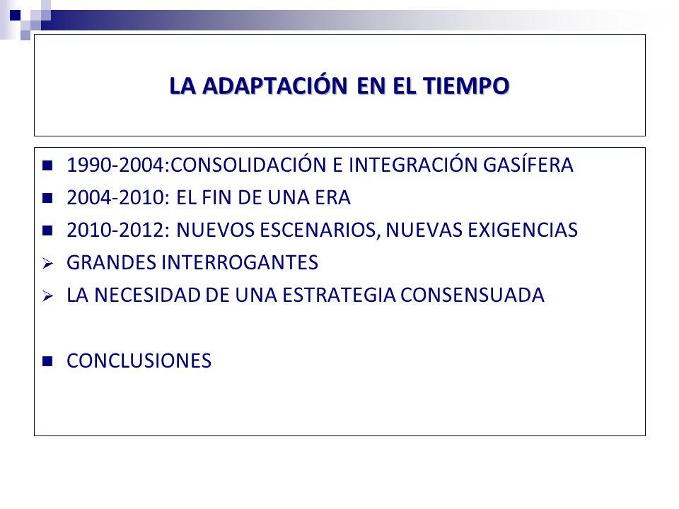 1990-2002:CONSOLIDACIÓN E INTEGRACIÓN GASÍFERA SECTOR ELÉCTRICO PRIVATIZADO MODELO DE DESARROLLO DESCENTRALIZADO PRIVADO EN PLENA APLICACIÓN DESARROLLO HIDROELÉCTRICO EN ZONA CENTRAL Y CARBÓN EN EL NORTE INTRODUCCIÓN DE GAS NATURAL ARGENTINO ENTRE 2006 Y 2007-SIGNIFICATIVA REDUCCIÓN DE COSTOS NUEVAS NORMAS AMBIENTALES EN APLICACIÓN DESDE 1994