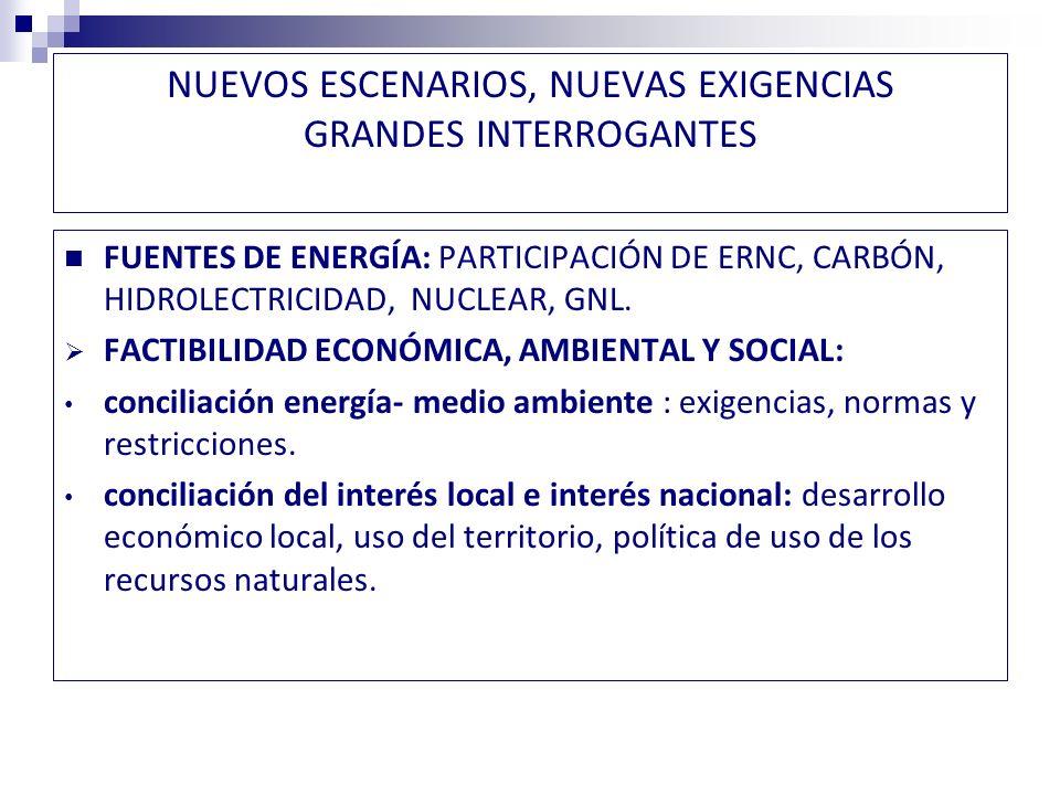 NUEVOS ESCENARIOS, NUEVAS EXIGENCIAS GRANDES INTERROGANTES GRADO DE INJERENCIA DEL ESTADO.