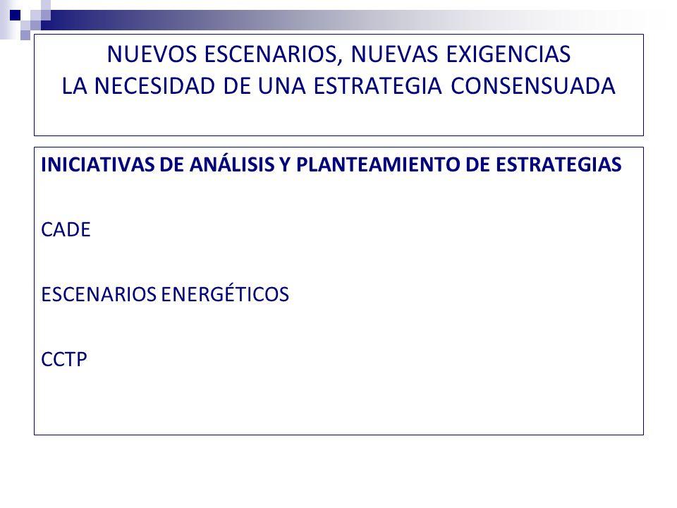 LA NECESIDAD DE UNA ESTRATEGIA CONSENSUADA CADE COMISIÓN DE EXPERTOS-TRANSVERSALIDAD POLÍTICA MANDATO: Análisis de Largo Plazo Recursos, escenarios, regulación, aspectos ambientales y sociales Propuestas para la discusión