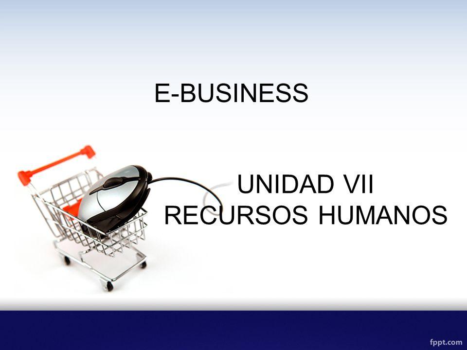 E-BUSINESS UNIDAD VII RECURSOS HUMANOS