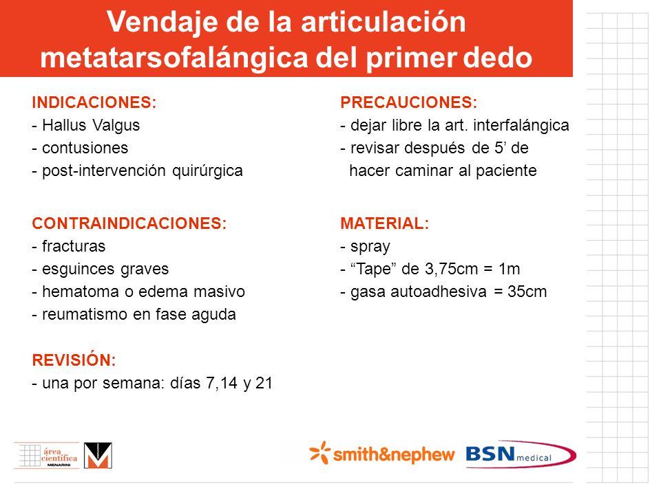 INDICACIONES: - Hallus Valgus - contusiones - post-intervención quirúrgica CONTRAINDICACIONES: - fracturas - esguinces graves - hematoma o edema masiv
