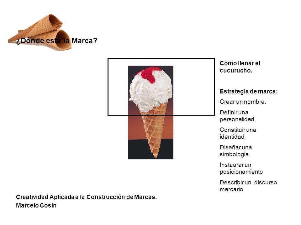 Creatividad Aplicada a la Construcción de Marcas.Marcelo Cosin ¿Dónde está la Marca.