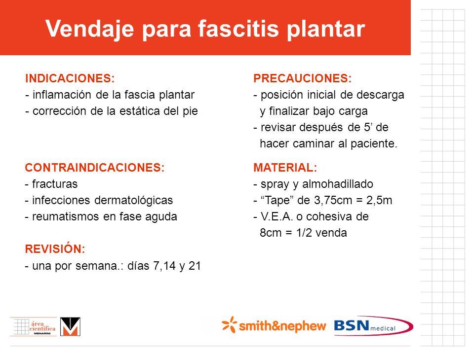 INDICACIONES: - inflamación de la fascia plantar - corrección de la estática del pie CONTRAINDICACIONES: - fracturas - infecciones dermatológicas - re