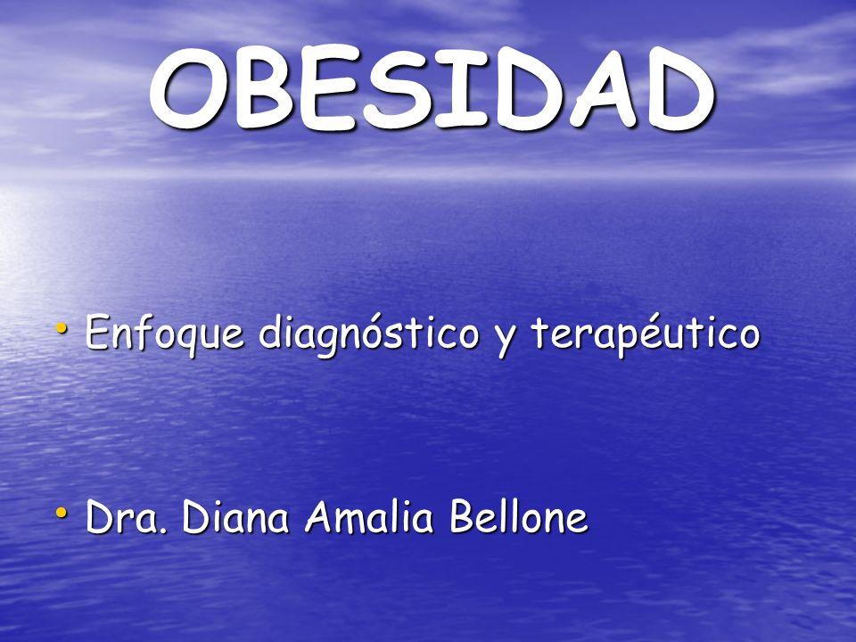 OBESIDAD Enfoque diagnóstico y terapéutico Enfoque diagnóstico y terapéutico Dra. Diana Amalia Bellone Dra. Diana Amalia Bellone