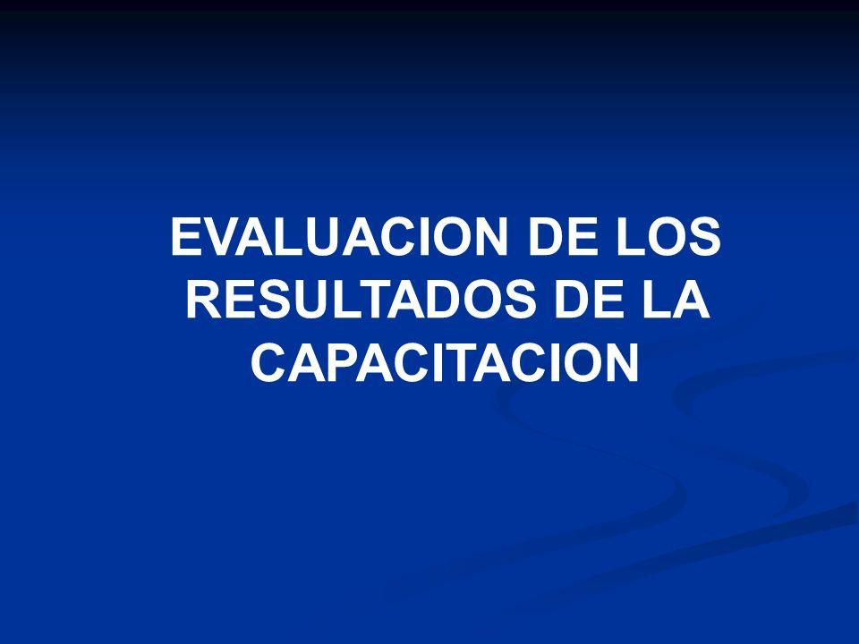Este proceso es la evaluación del resultado obtenido que se usan y se relacionan con cualquier programa de entrenamiento.