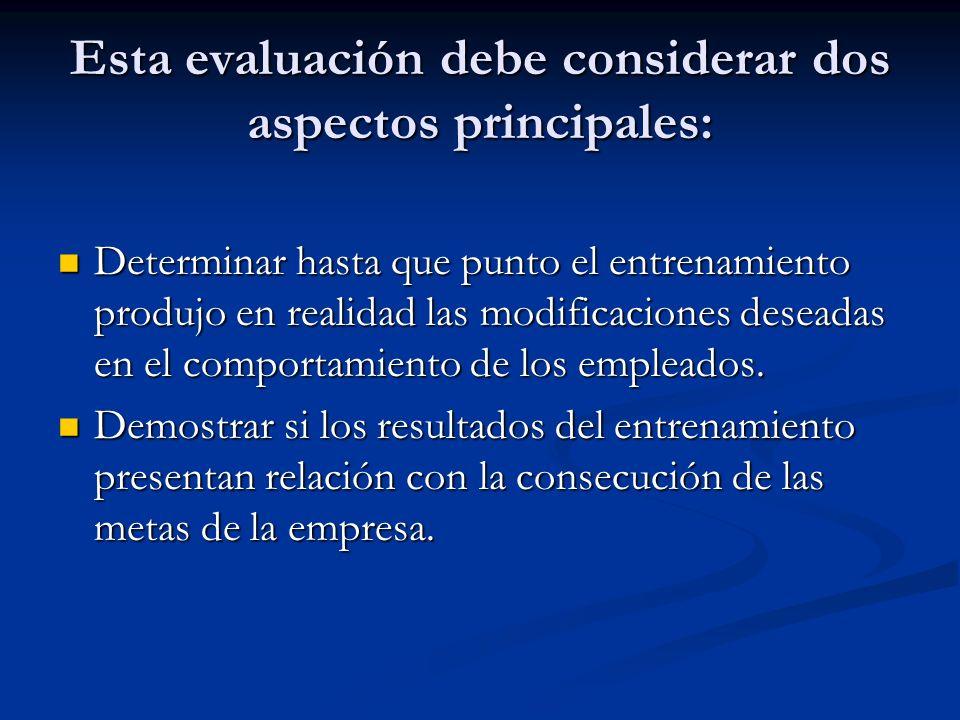 LAS ETAPAS DE LA EVALUACION DE UN PROCESO DE CAPACITACION Las relaciones de los capacitados al contenido del programa y el proceso legal.
