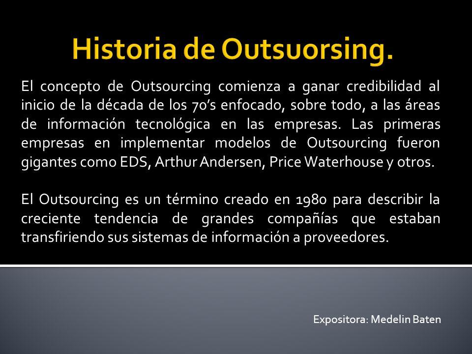 (En Inglés, Out significa fuera y source fuente outsourcing: fuera de la fuente).