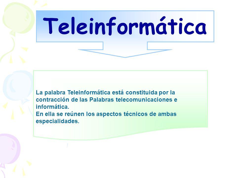 Teleinformática Se puede definir como la ciencia que estudia el conjunto de técnicas que es necesario usar para poder transmitir datos dentro de un sistema Informático entre puntos de él situados en lugares remotos o usando redes de telecomunicaciones .