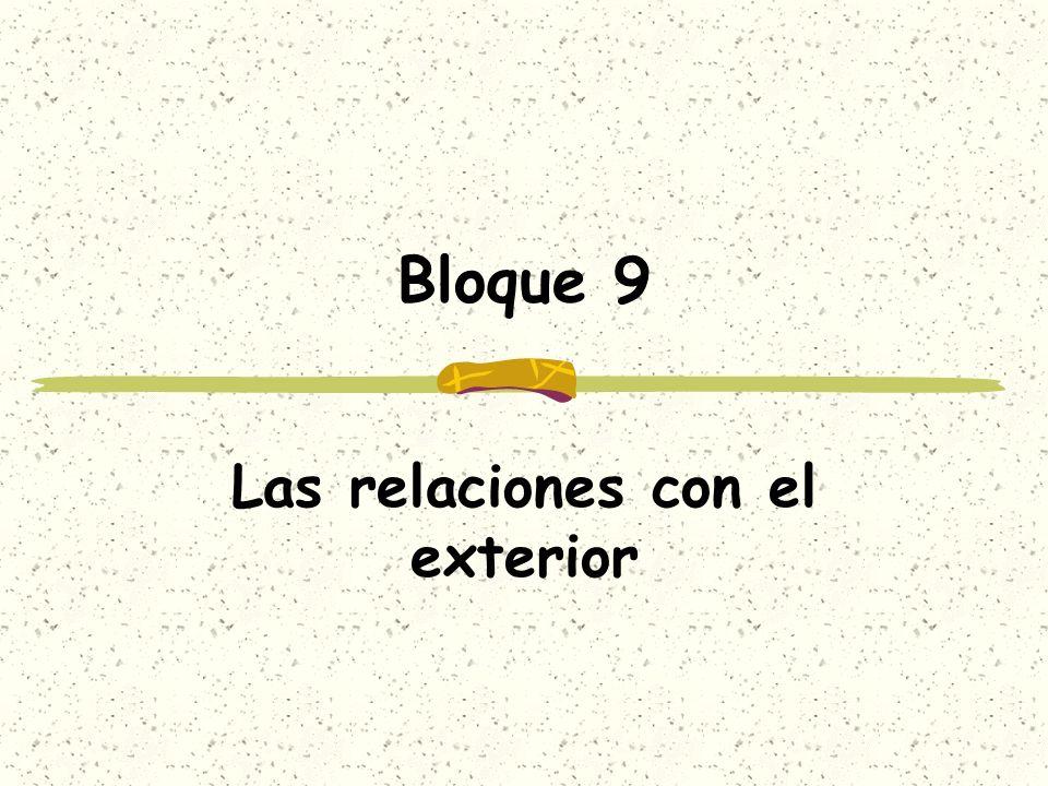 Bloque 9 Las relaciones con el exterior