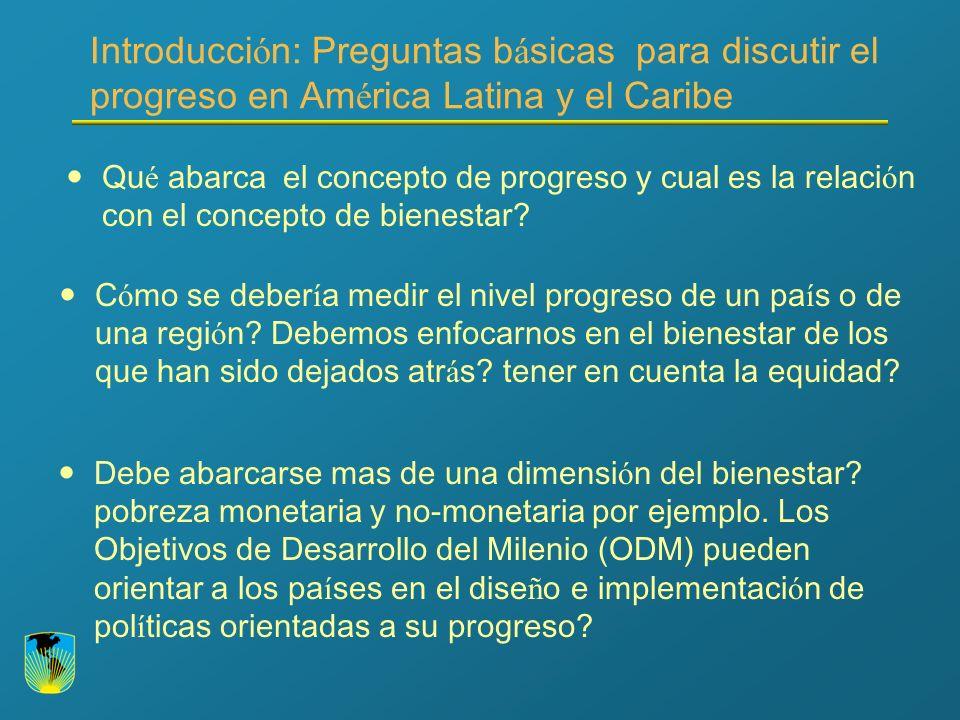 Introducci ó n: Preguntas b á sicas para discutir el progreso en Am é rica Latina y el Caribe Se est á n alcanzando los ODM en Am é rica Latina y el Caribe.