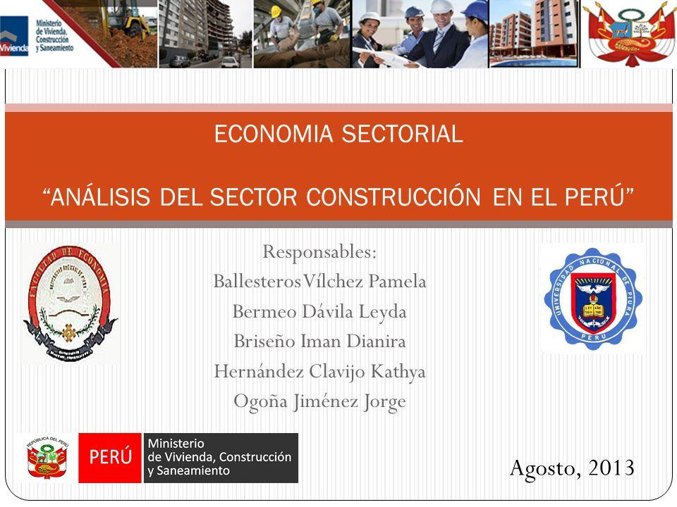 El mercado de la construcción tiene una importancia muy relevante dentro de la economía Peruana, pues produce la infraestructura física en casi todos los sectores económicos; en sí mismo tiene una participación muy notable dentro del producto y la inversión nacional.