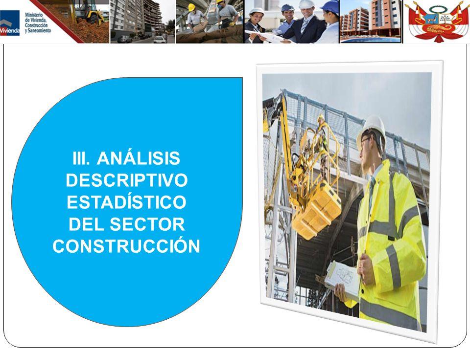 III. ANÁLISIS DESCRIPTIVO ESTADÍSTICO DEL SECTOR CONSTRUCCIÓN
