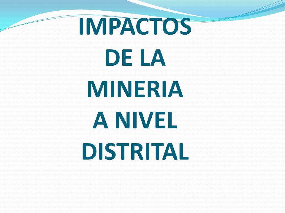 IMPACTOS DE LA MINERIA A NIVEL DISTRITAL