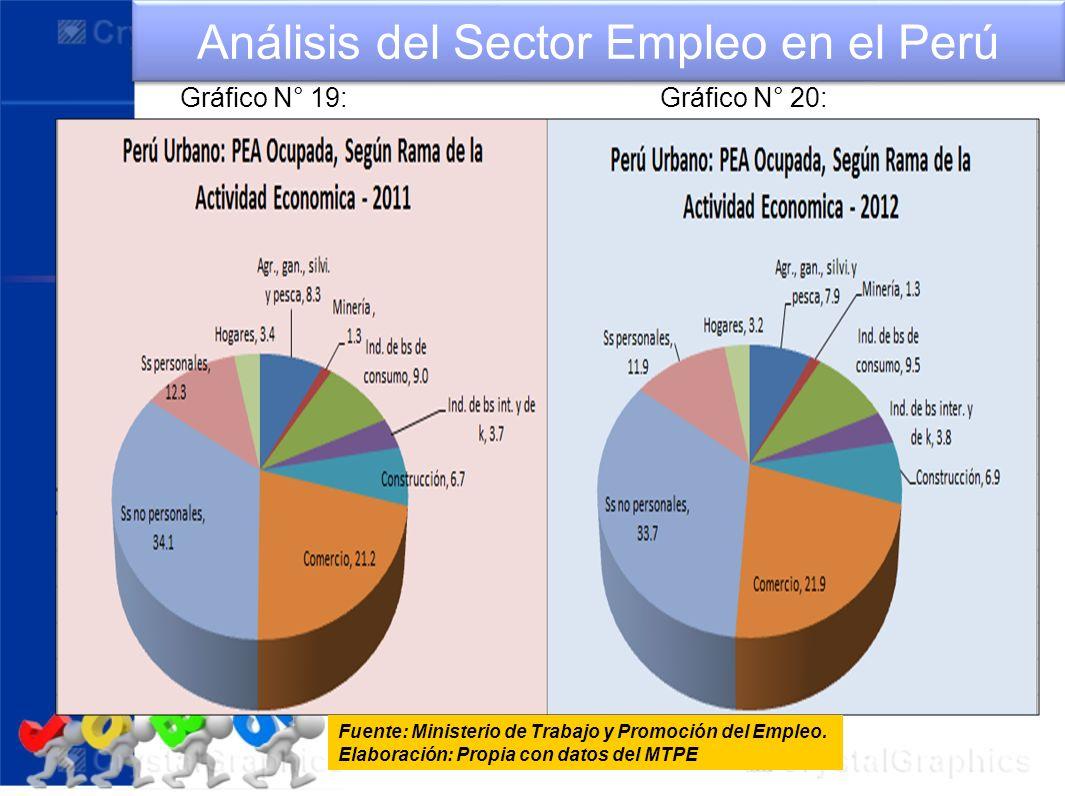 Análisis del Sector Empleo en el Perú Fuente: Ministerio de Trabajo y Promoción del Empleo. Elaboración: Propia con datos del MTPE Gráfico N° 19:Gráfi