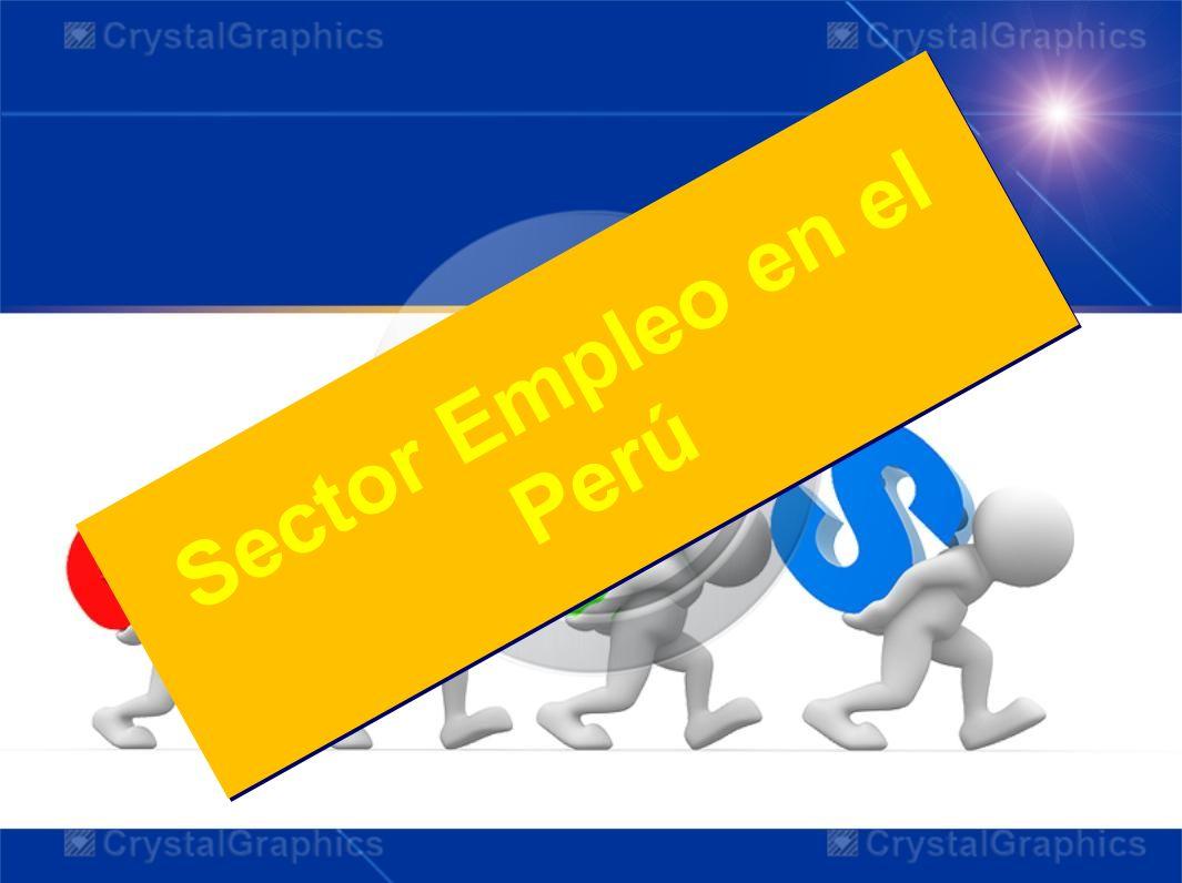 Sector Empleo en el Perú