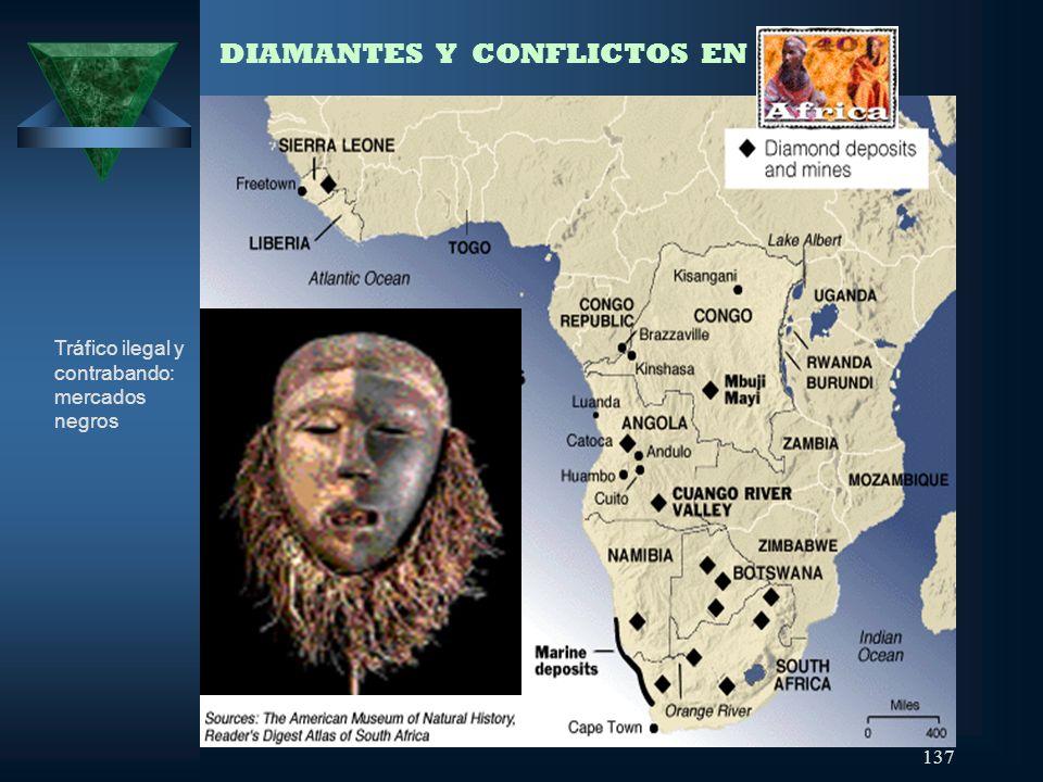 137 DIAMANTES Y CONFLICTOS EN ÁFRICA Tráfico ilegal y contrabando: mercados negros