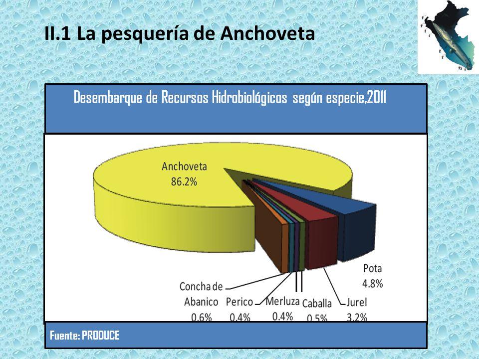 Fuente: PRODUCE II.1 La pesquería de Anchoveta