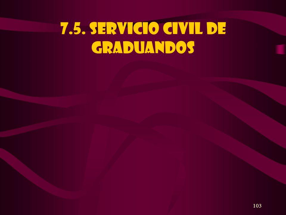 103 7.5. SERVICIO CIVIL DE GRADUANDOS