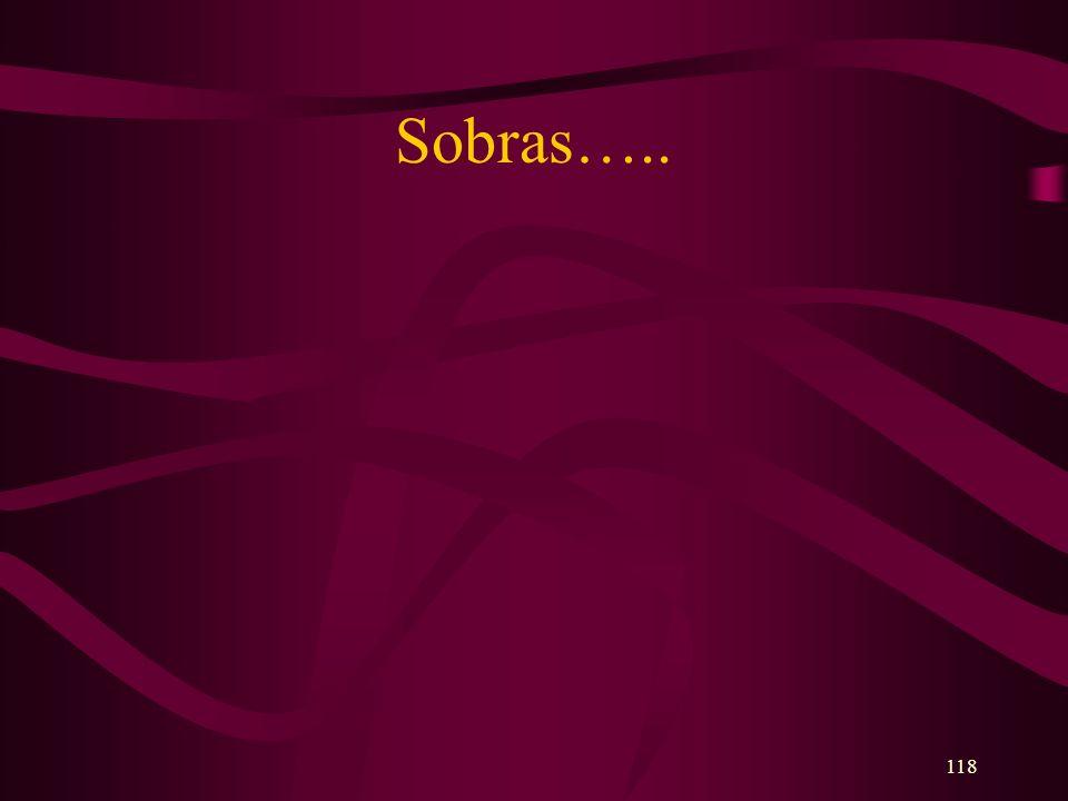 118 Sobras…..