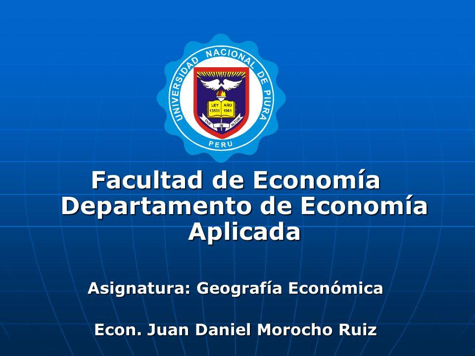 ¿Qué nos puede explicar la Geografía Económica.