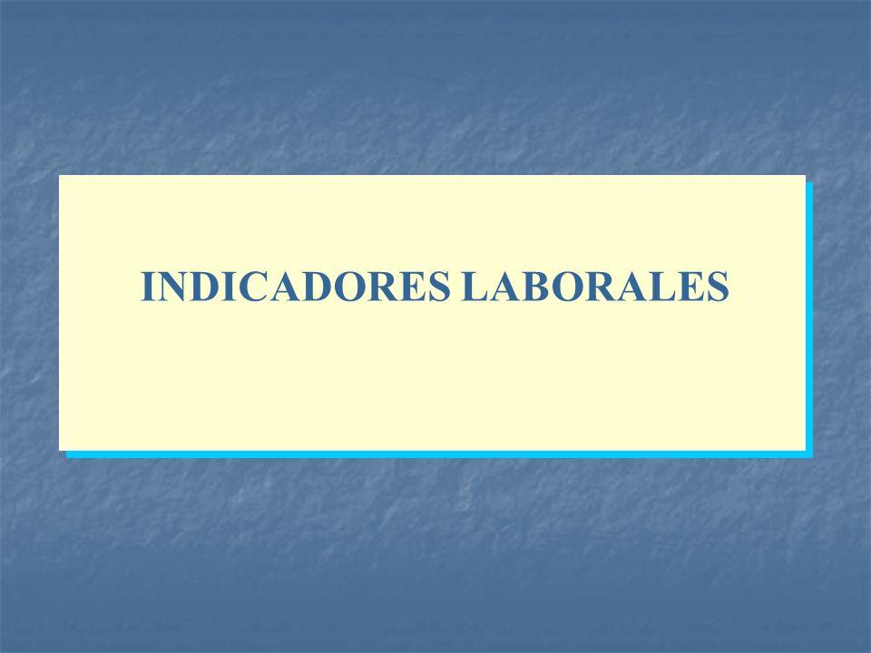 INDICADORES LABORALES