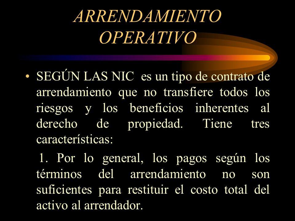 LEASING O ARRENDAMIENTO Contrato mediante el cual el dueño de un activo ( el arrendador), le confiere a otra persona ( el arrendatario) el derecho de