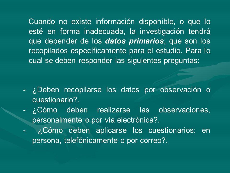 5)Diseño de los cuestionarios para recopilar datos.