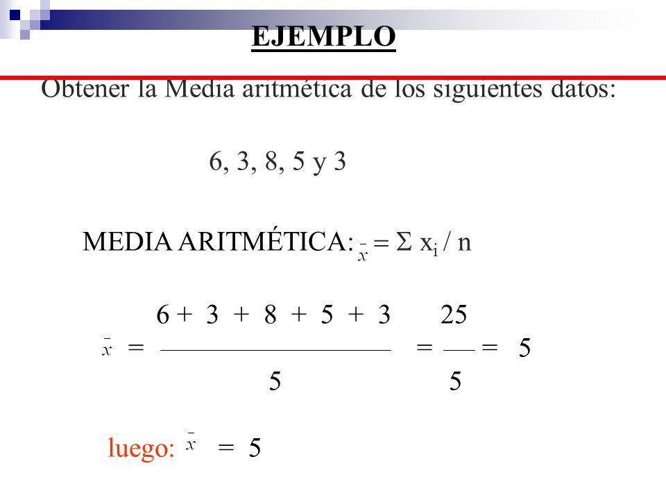 Varianza y desviación estándar poblacional: Varianza: 2 = (X i - ) 2 /N Desviación estándar: = 2 = Media poblacional N = Tamaño de la población Varianza y desviación estándar muestral Varianza: S 2 = (X i - x) 2 / (n - 1) Desviación estándar: s = s 2 x = Media muestral n = Tamaño de la muestra VARIANZA Y DESVIACIÓN ESTANDAR