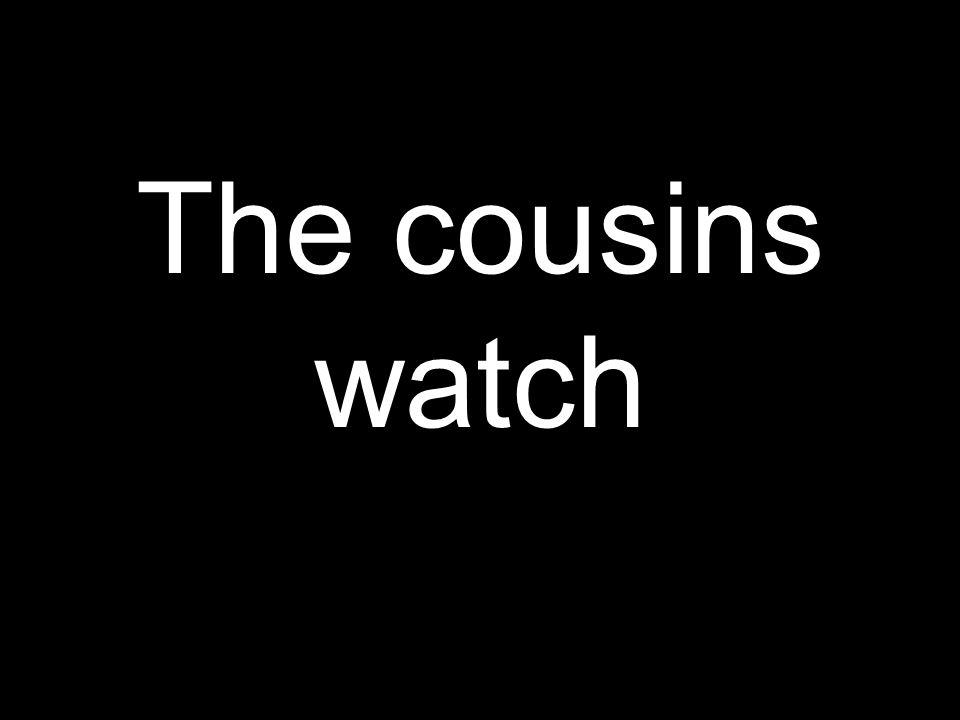 The cousins watch