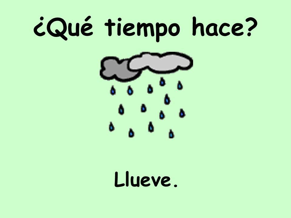 Llueve. ¿Qué tiempo hace