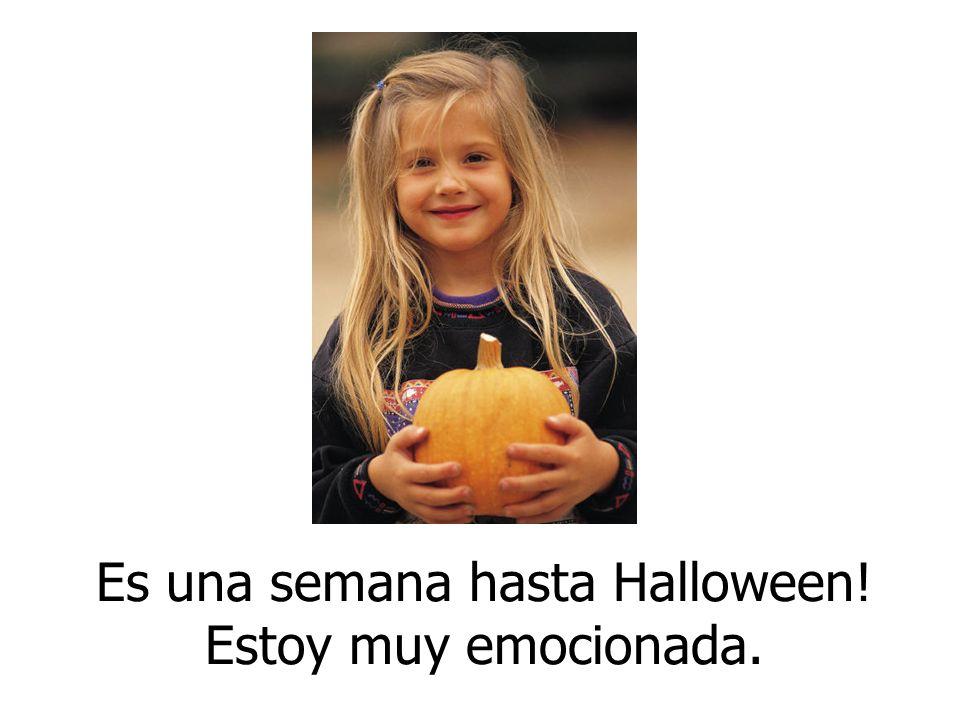 Es una semana hasta Halloween! Estoy muy emocionada.